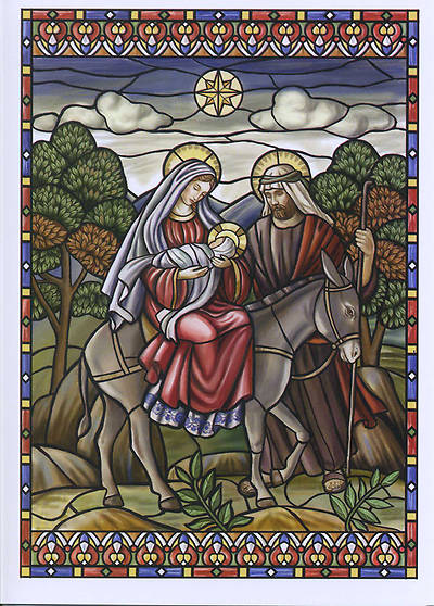 Holy Family on Donkey Boxed Cards