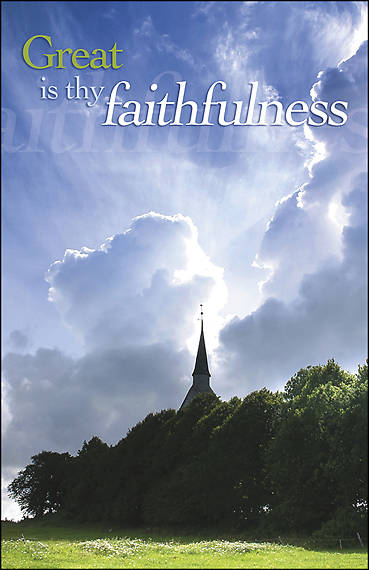Great Is Thy Faithfulness Bulletin - Pack of 100