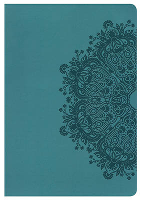 NKJV Giant Print Reference Bible, Teal Leathertouch