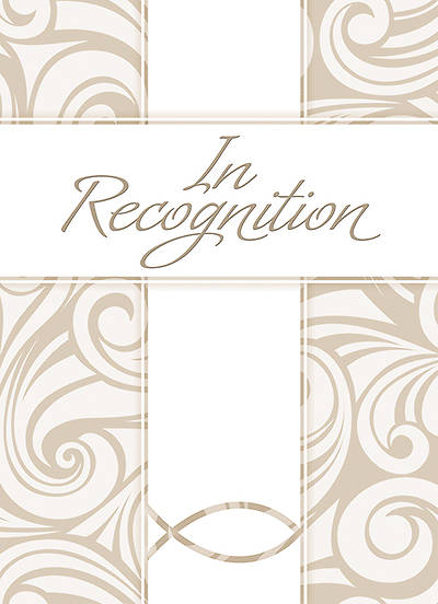 Recognition Certificate (5x7 folded) - Psalm 100:2 (Pack of 6)
