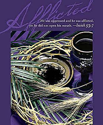 Afflicted Lenten Bulletin 2012, Large Size (Package of 50)