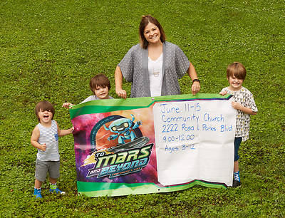 Vacation Bible School (VBS) 2019 To Mars and Beyond Outdoor Banner