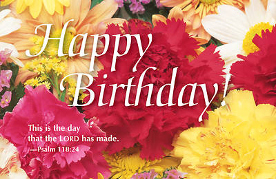 Happy Birthday Bouquet Postcard (Package of 25)