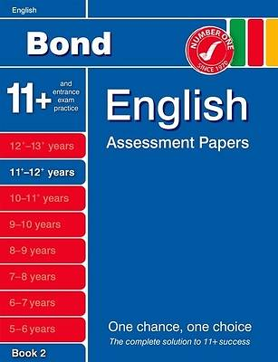 Bond English Assessment Papers 11+-12+ Years