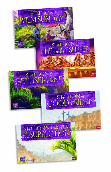 Walk with Jesus Station Posters Pkg of 5