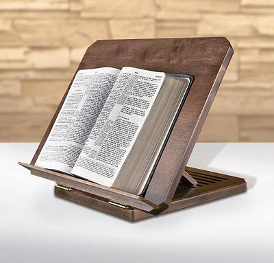 Bible/Missal Stand with Silk-Screened Bible Verse