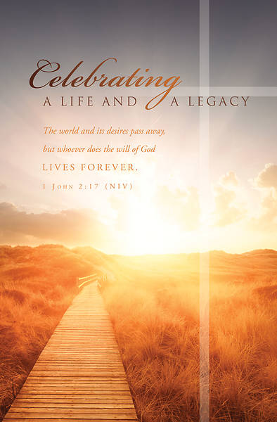 Celebrating a Life and Legacy Funeral Regular Size Bulletin