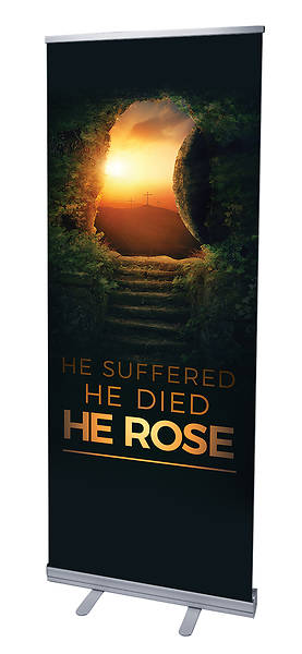 He Rose Easter RollUp Banner with Stand