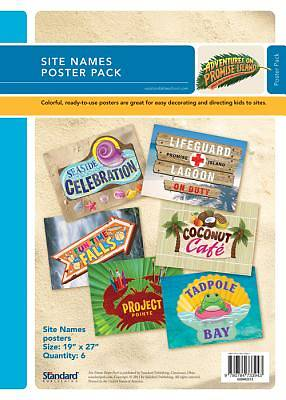 Standard Vacation Bible School 2012 Adventures On Promise Island Site Names Poster Pack