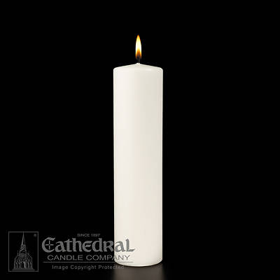 Plain White Christ Candle 3