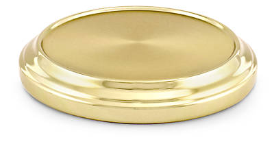 Aluminum Communionware Brasstone Stacking Bread Plate Base, 8 1/4""