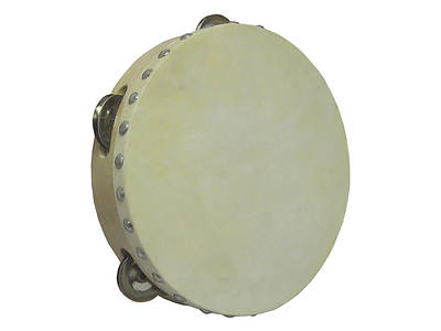 Wood Single Row Tambourine with Head - 8