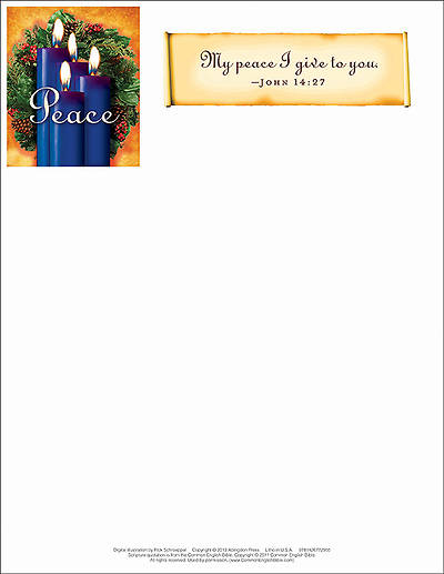 Advent Blue Letterhead 2013 (Package of 50)