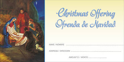 Christmas Traditional Nativity Offering Envelope Bilingual (Package of 100)
