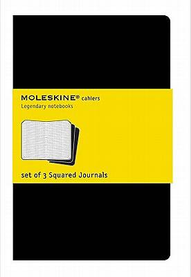 Moleskine Square Cahier Journal Black Large Set of 3 Square Journals