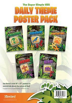 Standard VBS 2014 Jungle Safari Daily Theme Poster Pack