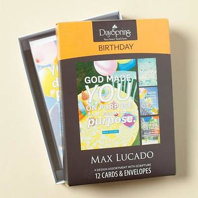 Max Lucado - Birthday Boxed Cards Spring 2014 - Box of 12