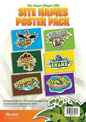 Standard VBS 2014 Jungle Safari Site Names Poster Pack