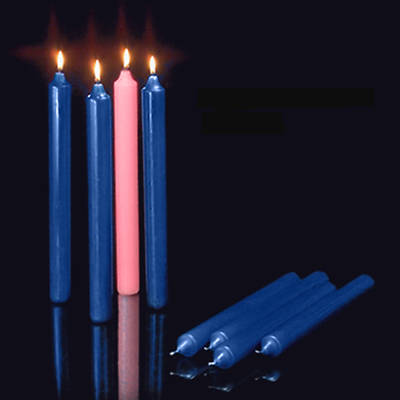 Set 4 Candle Advent 12 x 1 1/2 3 Sarum Blue 1 Rose 51% Beeswax