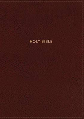 NKJV, Deluxe Reference Bible, Personal Size Giant Print, Imitation Leather, Red, Indexed, Red Letter Edition, Comfort Print