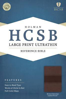 HCSB Large Print Ultrathin Reference Bible, Brown/Chocolate Leathertouch