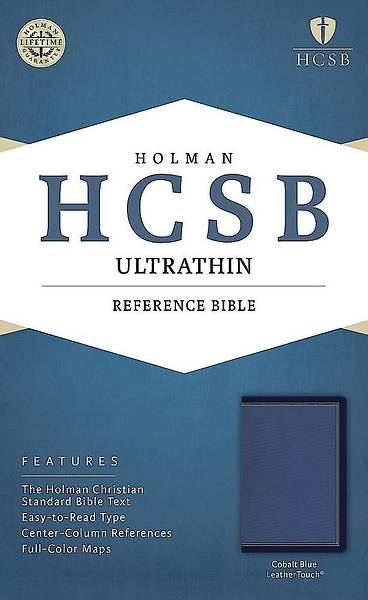 HCSB Ultrathin Reference Bible, Cobalt Blue Leathertouch