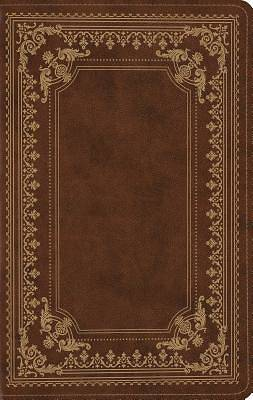 ESV Large Print Compact Bible (Trutone, Brown, Classic Frame Design)