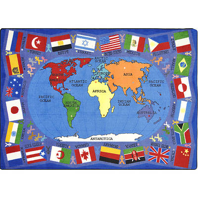 Flags of the World Childrens Area Rug