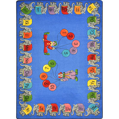 Circus Elephant Parade Childrens Area Rug
