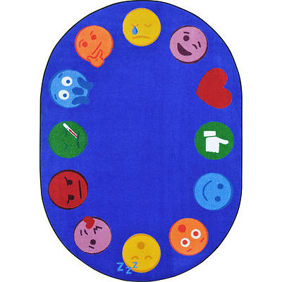 Emoji Edge Childrens Area Rug