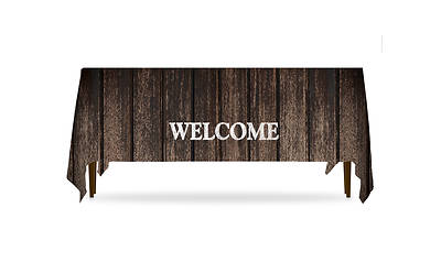 Rustic Charm Welcome Table Throw