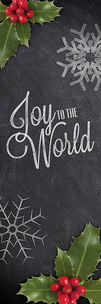 Joy To The World Chalk  2 x 6 Banner
