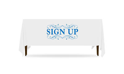 Filigree Sign Up Table Throw