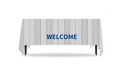 Painted Wood Welcome Table Throw