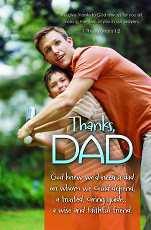 Father's Day Bulletin, Thanks Dad, 1 Thessalonians 1:2, Regular (Package of 100)