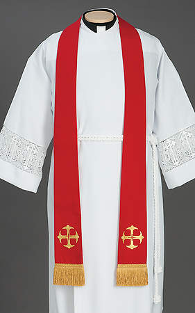 Canterbury Cross Stole Red - 92