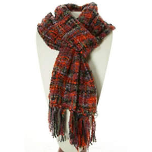 Thai Cozy Scarf - Black/Grey/Red