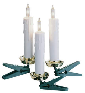 Flameless Candles Slim White Clip-On (Strand of 20)