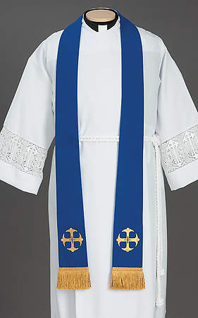 Canterbury Cross Stole Blue - 92
