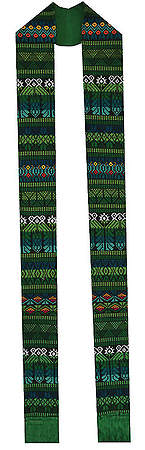 Fair Trade Tapestry Stoles Green - 108
