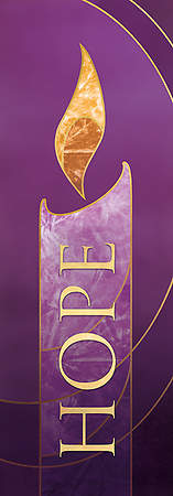 18X5 Advent Banner HOPE Purple