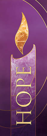 3X9 Advent Banner HOPE Purple