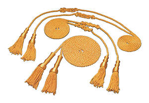 Gold Tassel and Cord  for 4 1/3' X  5 1/2' Flag