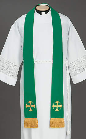 Canterbury Cross Stole Green - 92