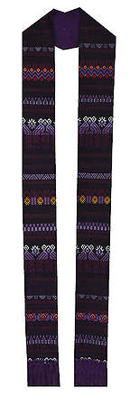 Fair Trade Tapestry Stoles Purple - 108
