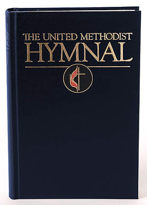 United Methodist Pew Navy No Stain Stamped Hymnal