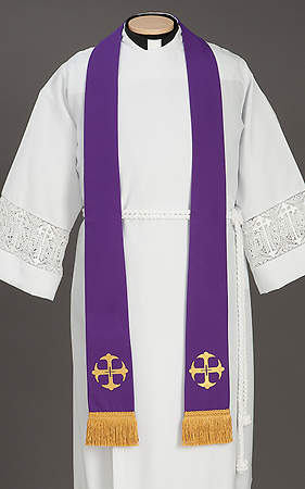 Canterbury Cross Stole Purple - 92