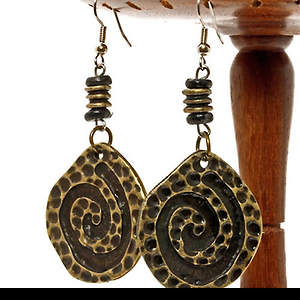 South Africa Earrings - Cheetah Tail Swirl