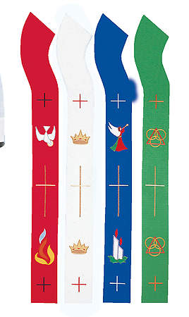 Seasons of the Church Stole Series White - 110