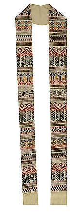 Fair Trade Tapestry Stoles White - 108